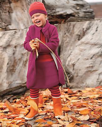 Disana Boiled Wool Girl's Coat, Berry 9-10 years Coats