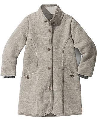Disana Boiled Wool Girl's Coat, Light Grey  Coats