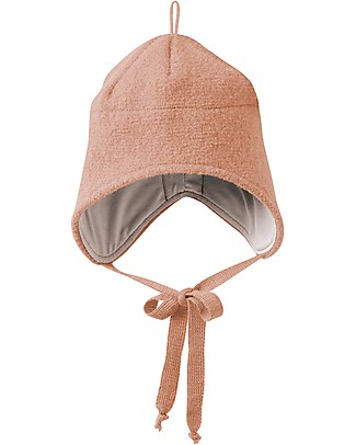 Disana Boiled Wool Hat with Strings, Rose - 100% merino wool Hats