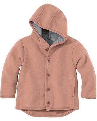 Disana Boiled Wool Jacket, Rose - 100% merino wool Cardigans