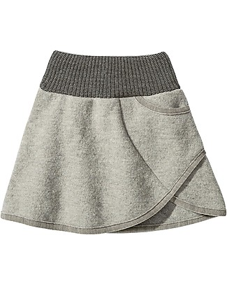 Disana Boiled Wool Skirt, Grey Skirts