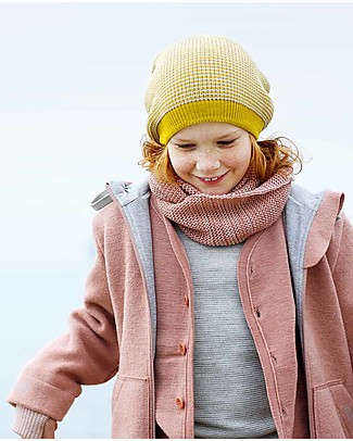 Disana Girl's Outdoor Jacket, Rose - Boiled wool Jackets