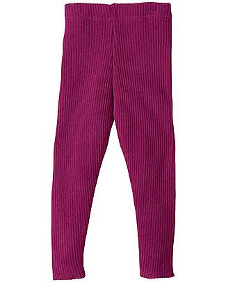 Disana Knitted Leggings, Berry – Pure Wool Leggings
