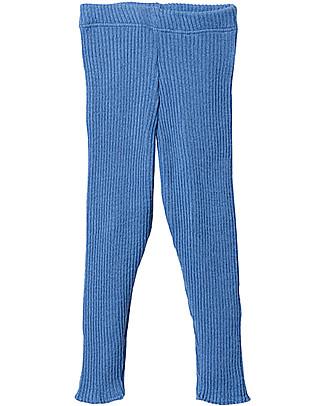 Disana Knitted Leggings, Blue – Pure Wool Leggings