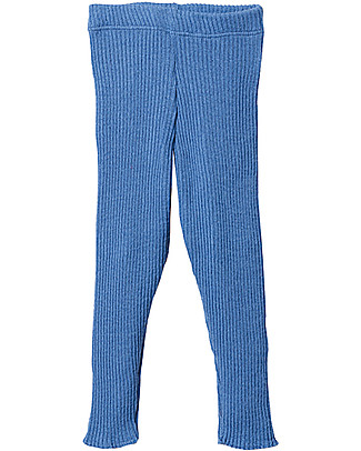 Disana Knitted Leggings, Blue - Pure Wool Leggings