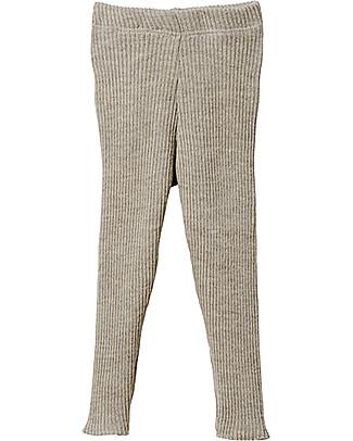 Disana Knitted Leggings, Light Grey – Pure Wool Leggings