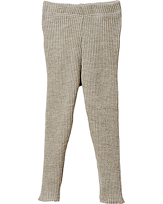 Disana Knitted Leggings, Light Grey - Pure Wool Leggings
