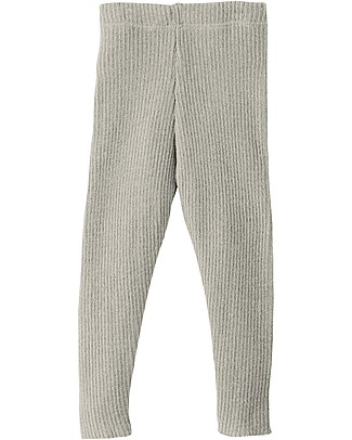 Disana Knitted Leggings, Light Grey - Pure Wool Leggings
