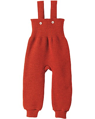 Disana Knitted Trousers, Red Trousers