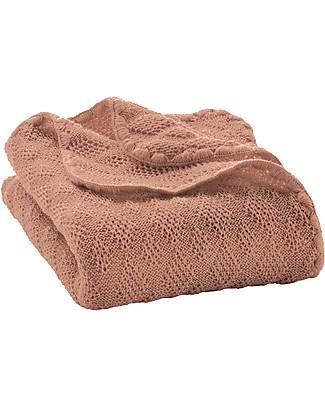 Disana Knitted Woollen Baby Blanket, Rose - 80x100 cm Blankets