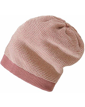 Disana Long-Beanie, Rose Natural - 100% merino wool Hats