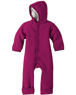 Disana Long Sleeved Boiled Wool Overall, Berry  Snowsuits