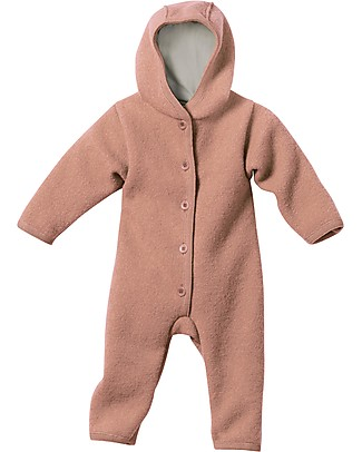 Disana Long Sleeved Boiled Wool Overall, Rose Snowsuits