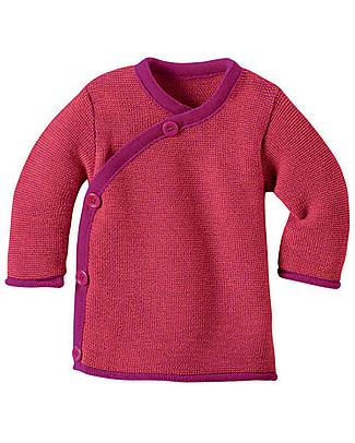 Disana Melange Jacket, Berry Melange - Pure merino wool Cardigans
