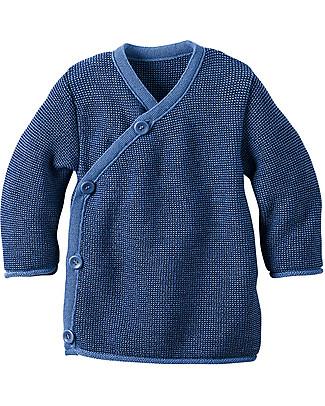 Disana Melange Jacket, Blue Melange - Pure merino wool Cardigans
