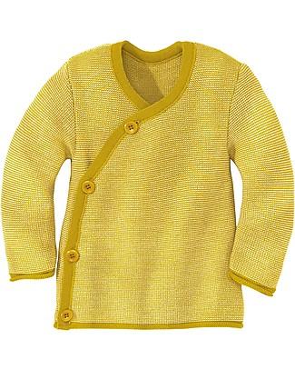 Disana Melange Jacket, Curry Melange - Pure merino wool Cardigans