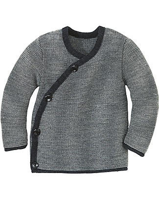 Disana Melange Jacket, Grey Melange - Pure merino wool Cardigans