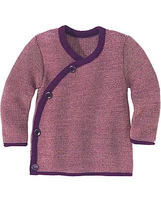 Disana Melange Jacket, Plum Melange - Pure merino wool Cardigans