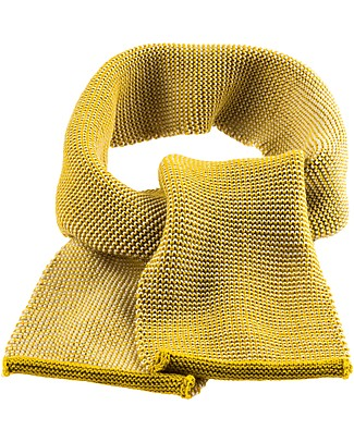 Disana Melange Scarf, Curry - 100% merino wool Scarves And Shawls