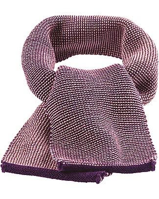 Disana Melange Scarf, Plum - 100% merino wool Scarves And Shawls