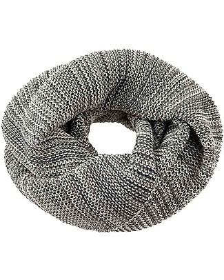 Disana Woman Loop Scarf, Anthracite Grey - Merino Wool Scarves And Shawls
