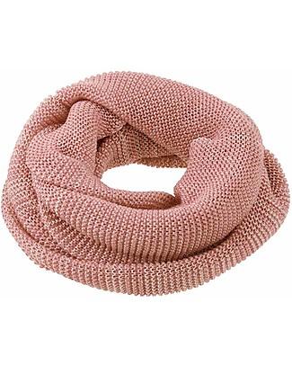 Disana Woman Loop Scarf, Rose Natural - Merino Wool Scarves And Shawls