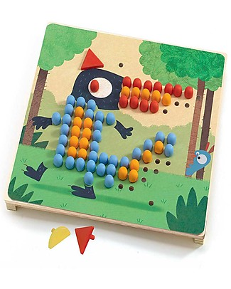 Djeco Educational Game, Mosaico Rigolo - 8 Shapes Puzzles