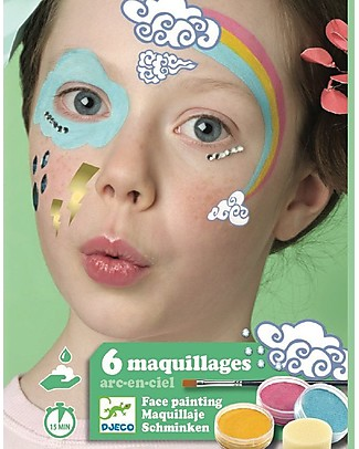 Djeco Face Paint Set - Rainbow Tattoos