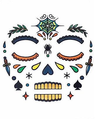 Djeco Face Tattoo - Mexican Skull, Calaveras Tattoos