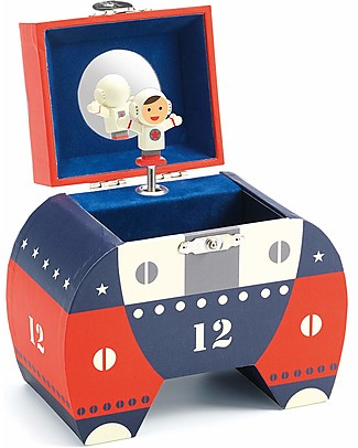 Djeco Musical Box, Shuttle - Blue and Red Mobiles