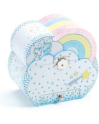 Djeco Musical Box, Unicorns's Dream - Pink and Light Blue Mobiles