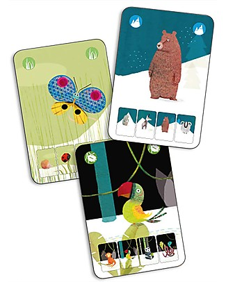 Djeco Playing Cards, Mini Nature - Quartet's Game Board Games