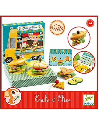 Djeco Role Play, Emile and Olive - Wood Story Making Games