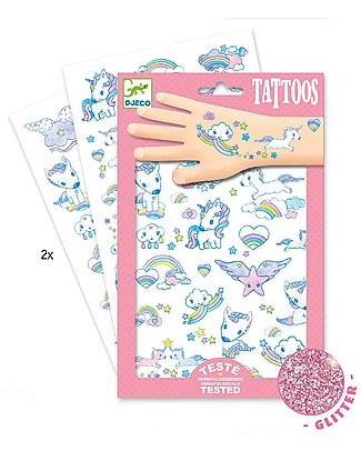Djeco Tatoos, Unicorns - Glitter Tattoos