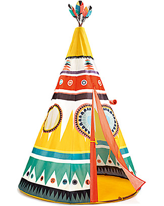 Djeco Tipi Tent, Colorful - 110 x 164 cm Tepees & Tents