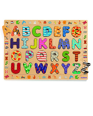 Djeco Wooden Puzzle of Letters, ABC Board Games