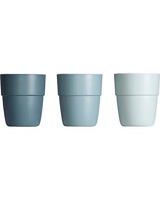 Done By Deer 3-Pack Yummy Mini Mug, Blue Tones - 160 ml Cups & Beakers