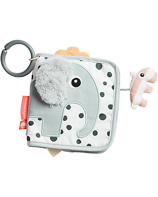 Done By Deer Activity Book - Elphee - Grey - Suitable from Birth Baby Gym