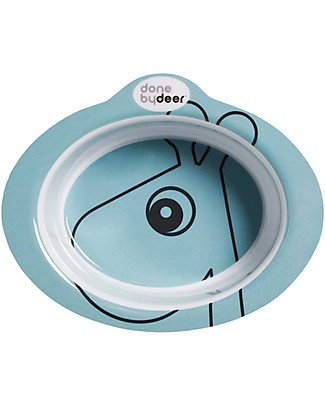Done By Deer Anti-Slip Bowl Contour Raffi, Blue - 100% melamine Bowls & Plates