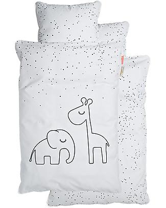 Done By Deer Bedding Set Duvet Cover and Pillowcase Dreamy Dots, White - Junior 100 x 140 cm - 100% cotton Duvet Sets