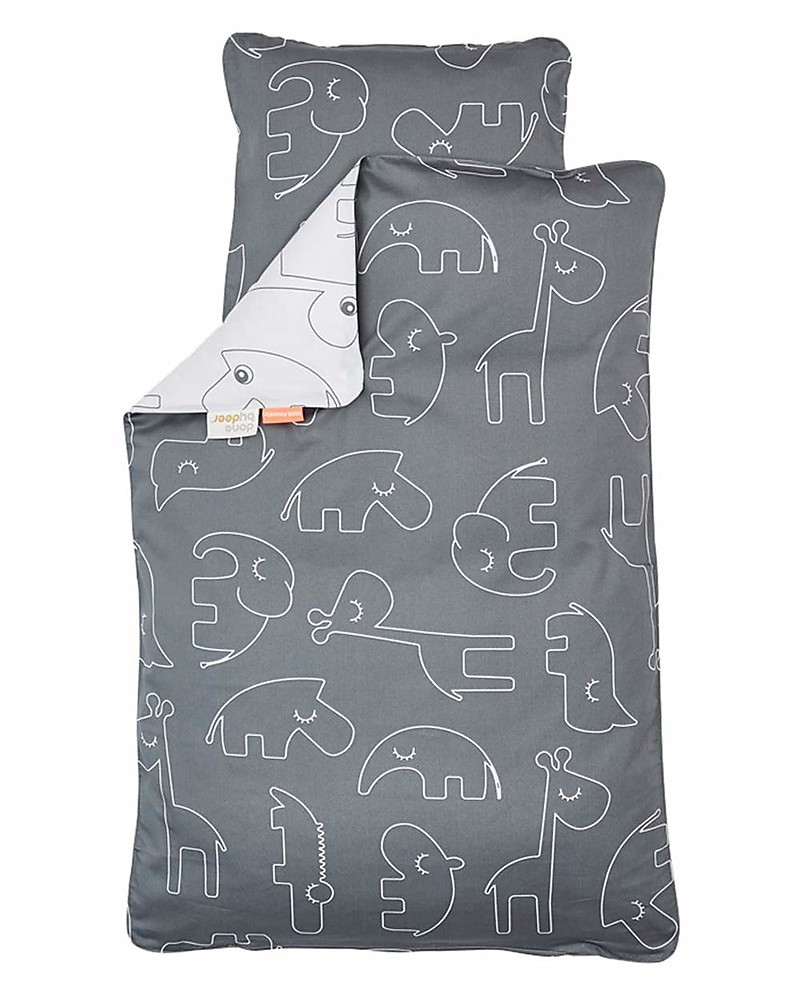 Copripiumino Picci.Done By Deer Bedding Set Duvet Cover And Pillowcase Sleepy Grey