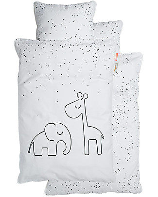 Done By Deer Bedlinen - Junior - Dreamy Dots - Whi - Int - Suitable from Birth Bed Sheets
