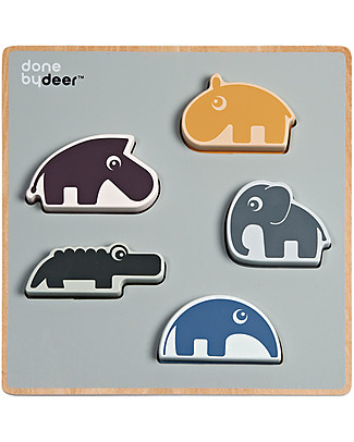 Done By Deer Chunky Play Wooden Puzzle, Deer Friends - From12 Months Puzzles