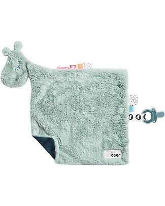 Done By Deer Comfort Blanket Raffi, Blue - 30x30 cm Doudou & Comforters