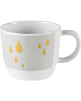 Done By Deer Cup with Handle Contour, Grey/Gold - 220 ml Cups & Beakers