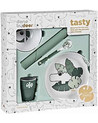 Done By Deer Dinner Set - Tiny Tropics - Suitable from Birth Meal Sets