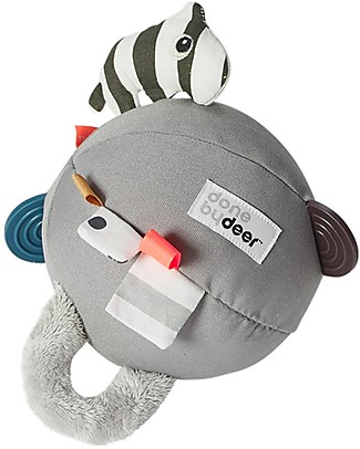 Done By Deer MultiActivity Baby Ball, Grey - Suitable from Birth Baby Gym