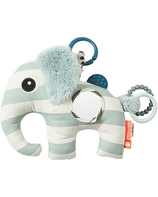 Done By Deer MultiActivity Baby Toy with Teething Ring Elphee, Blue - Suitable from Birth Baby Gym