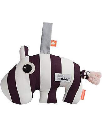 Done By Deer Musical Baby Toy Ozzo, Dark Powder - Suitable from Birth Newborn Toys