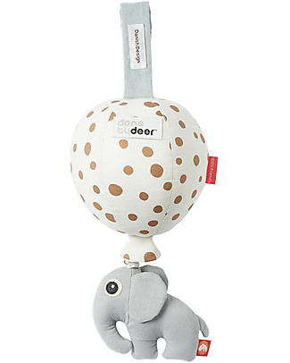 Done By Deer Musical Balloon, Gold Dots - Cotton Newborn Toys